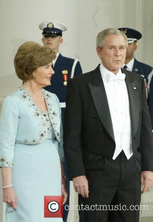 Laura Bush and George W. Bush at the...