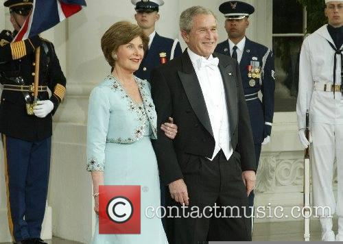 Laura Bush and George W. Bush at the...