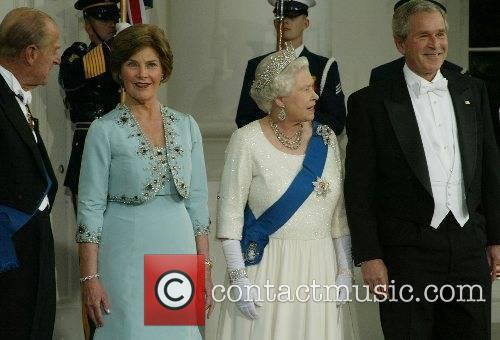 Queen Elizabeth II and George W. Bush at...