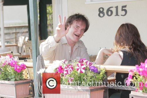 Quentin Tarantino eats lunch at Cafe Med with...