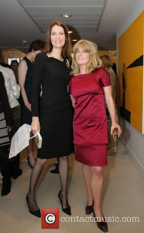 Rachel Johnson and friend at a signing session...