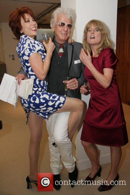 Rachel Johnson and friends at a signing session...