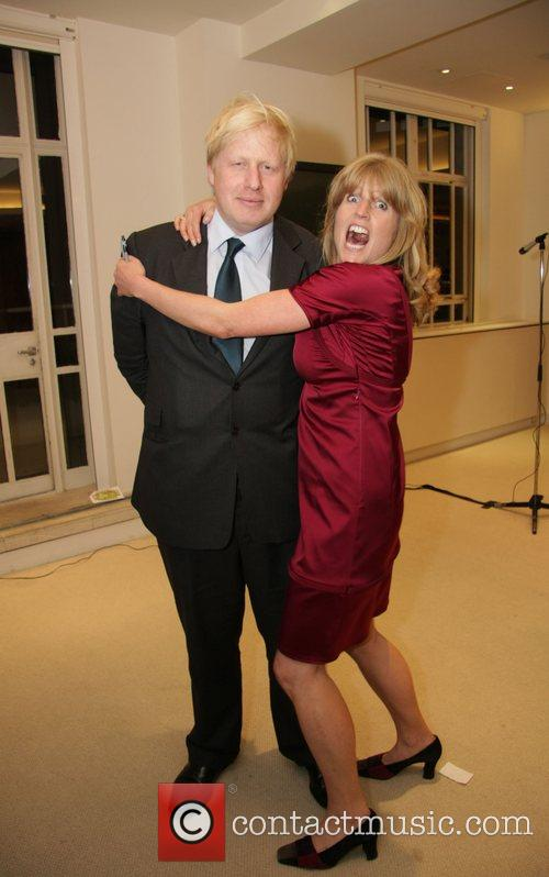 Rachel Johnson and Boris Johnson at a signing...