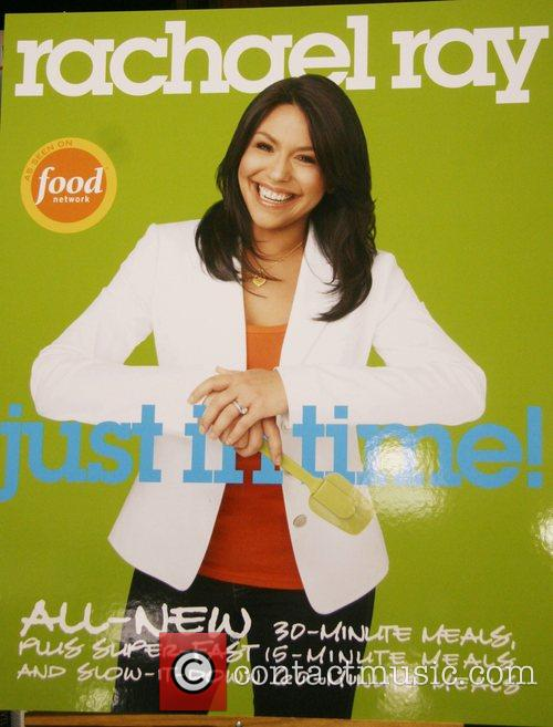 Rachael Ray signing her new book, 'Just In...