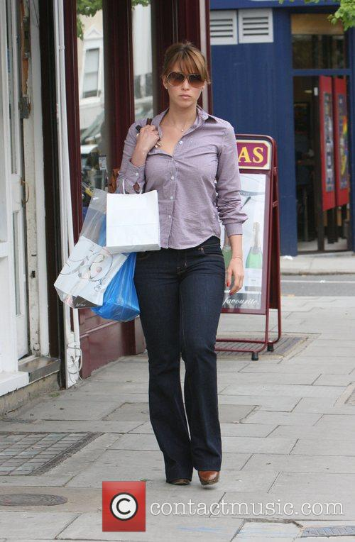 Rachel Stevens shopping in Primrose Hill
