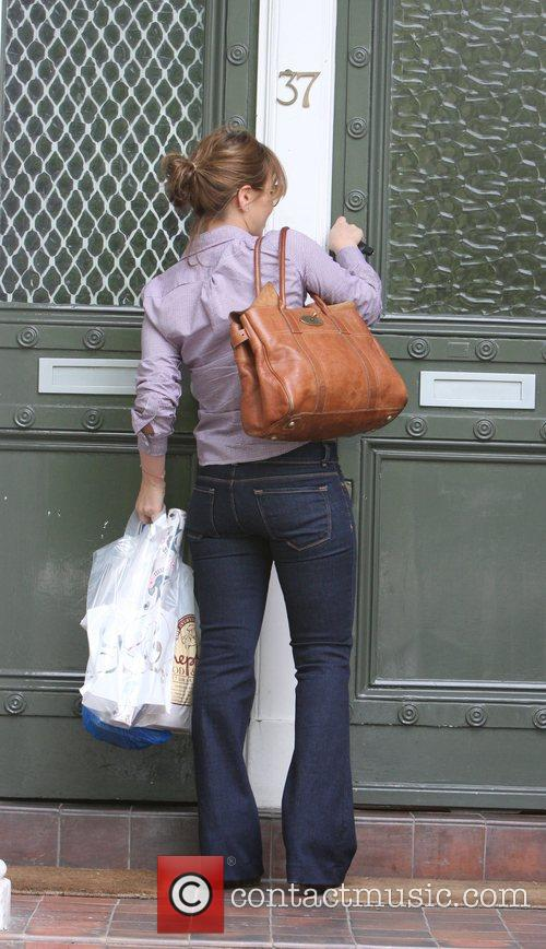 Rachel Stevens shopping in Primrose Hill London, England