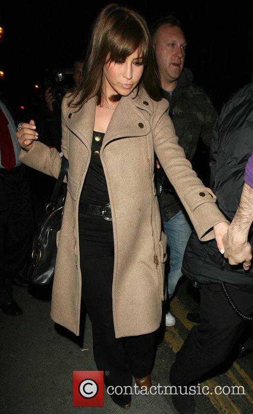 Rachel Stevens leaving San Lorenzo restaurant in Knightsbridge....