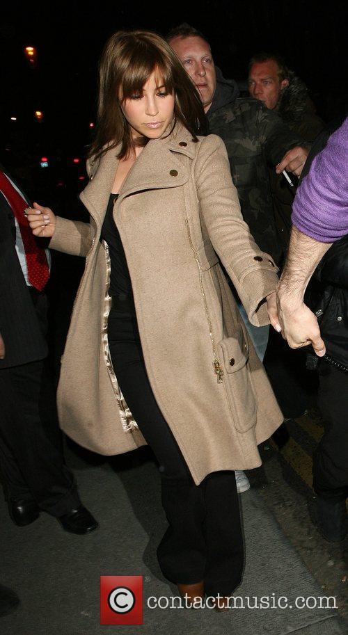 Rachel Stevens leaving San Lorenzo restaurant in Knightsbridge.