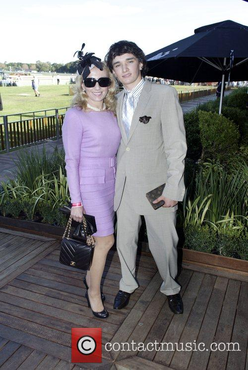 Guests The Doncaster Day racing carnival at Royal...