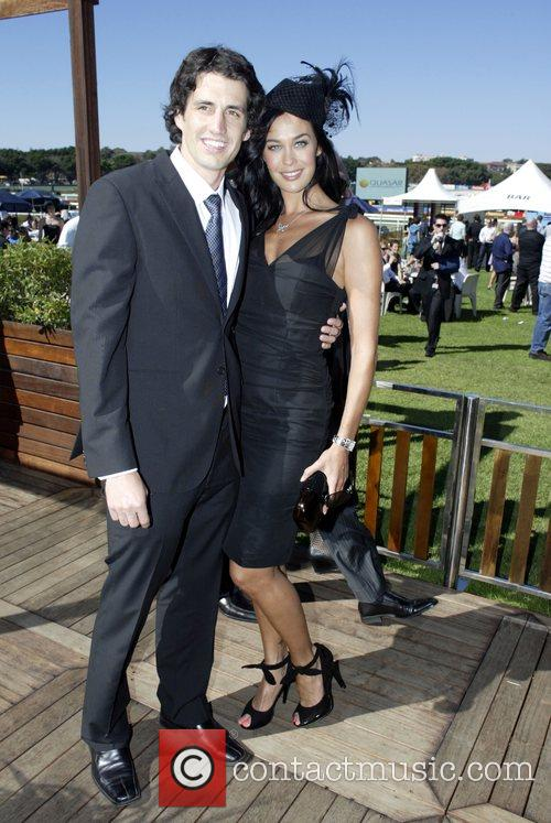 Megan Gale and Andy Lee The Doncaster Day...