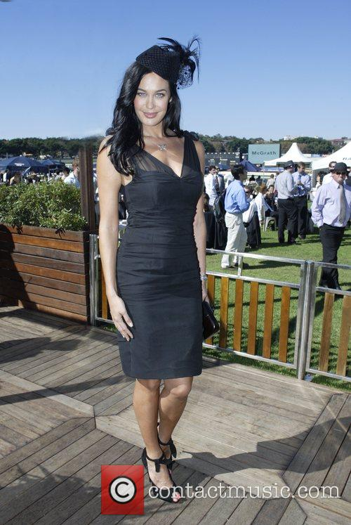Megan Gale The Doncaster Day racing carnival at...