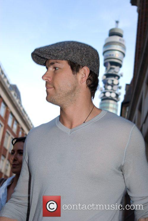 Ryan Reynolds leaving the Radio 1 studios