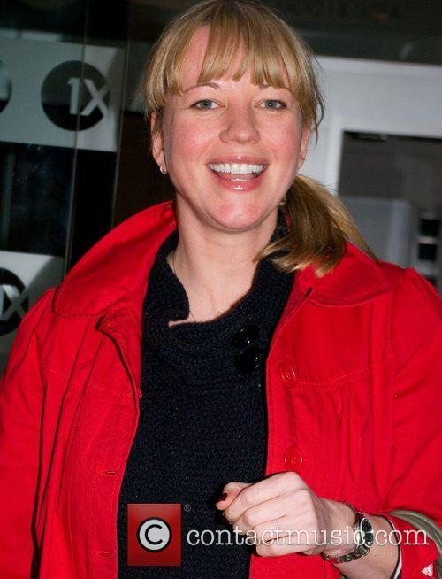 Sara Cox leaving BBC Radio 1 studios after...