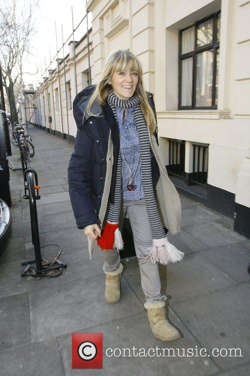 Pregnant Edith Bowman arriving at the Radio One...