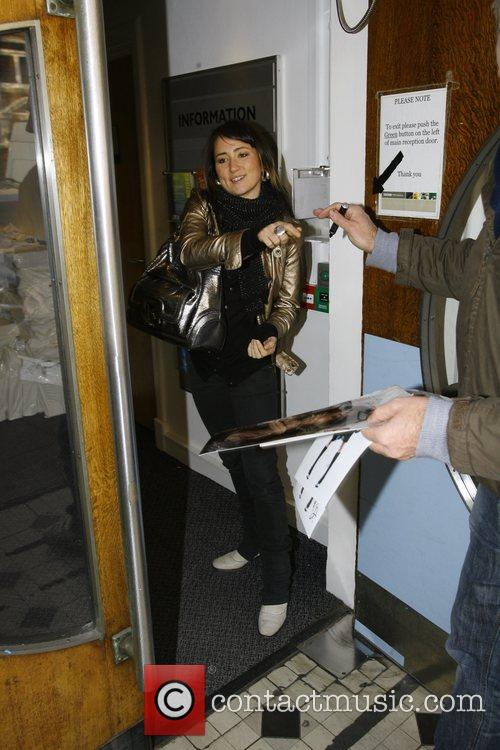K T Tunstall arriving at the Radio One...
