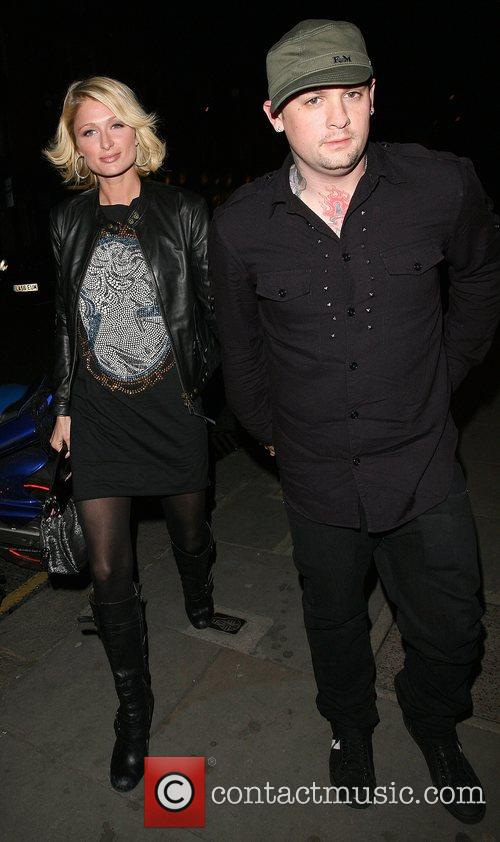 Paris Hilton and her boyfriend Benji Madden, of...