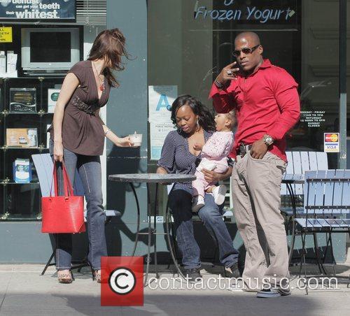 Rapper Won G eats frozen yogurt at Angelina...