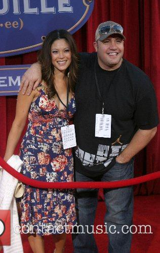 Kevin James and wife 'Ratatouille' World Premiere at...