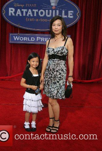 Ming-Na and daughter 'Ratatouille' World Premiere at the...