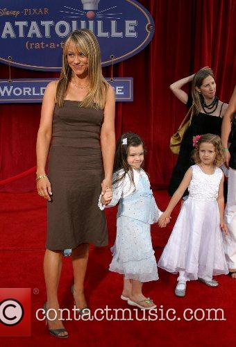 Christine Taylor and daughter 'Ratatouille' World Premiere at...