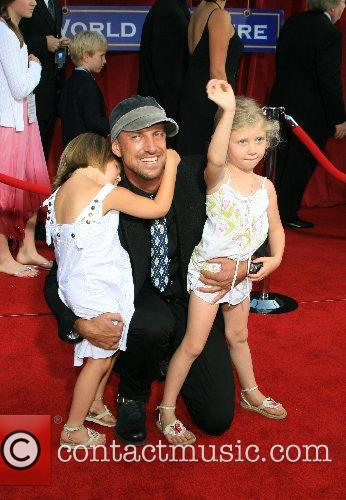 Daniel Power and daughters 'Ratatouille' World Premiere at...