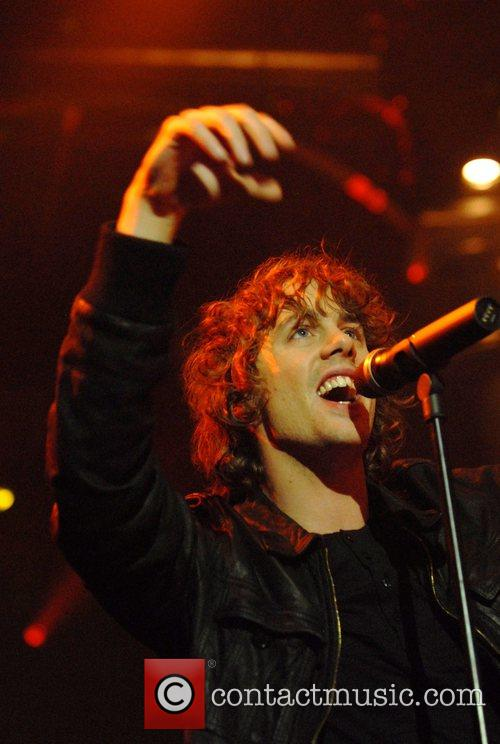 Johnny Borrell of Razorlight performing at the Roundhouse...