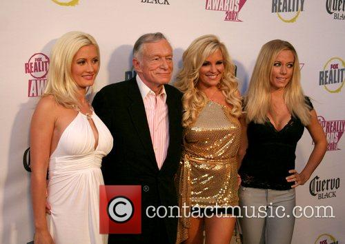 Holly Madison, Bridget Marquardt, Fox and Hugh Hefner 1