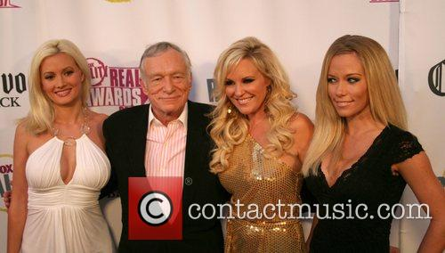 Holly Madison, Bridget Marquardt, Fox and Hugh Hefner 2
