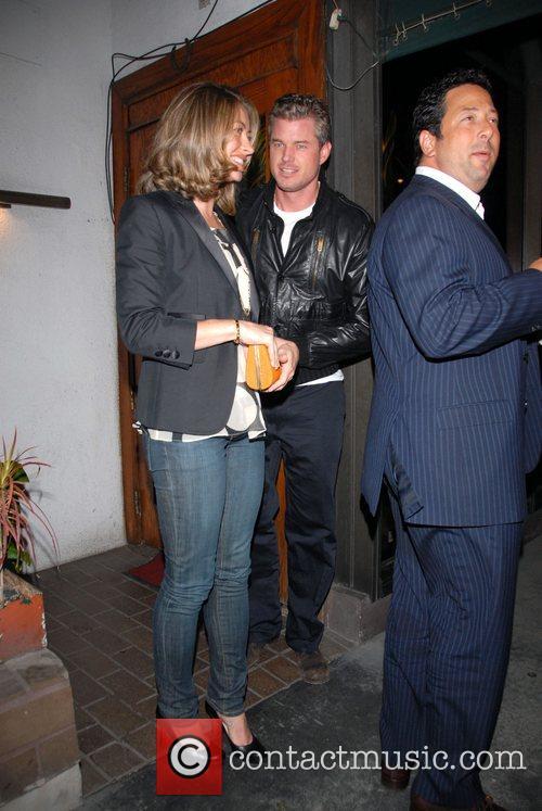 Eric Dane and Rebecca Gayheart leaving Madeos Restaurant....