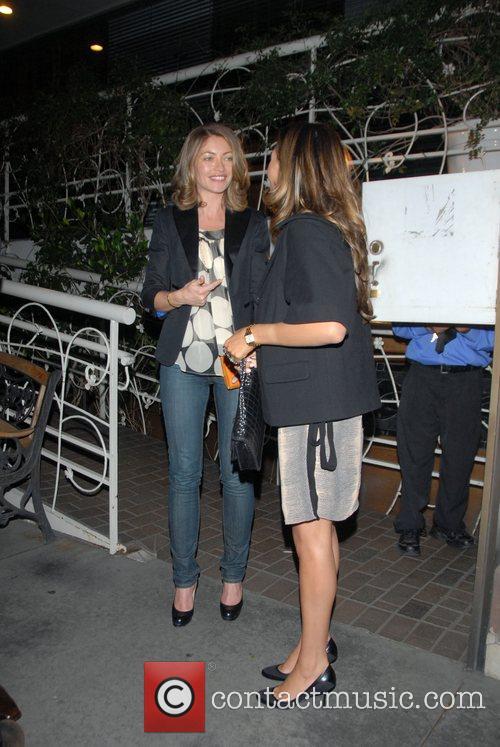 Rebecca Gayheart  leaving Madeos Restaurant. Los Angeles,...