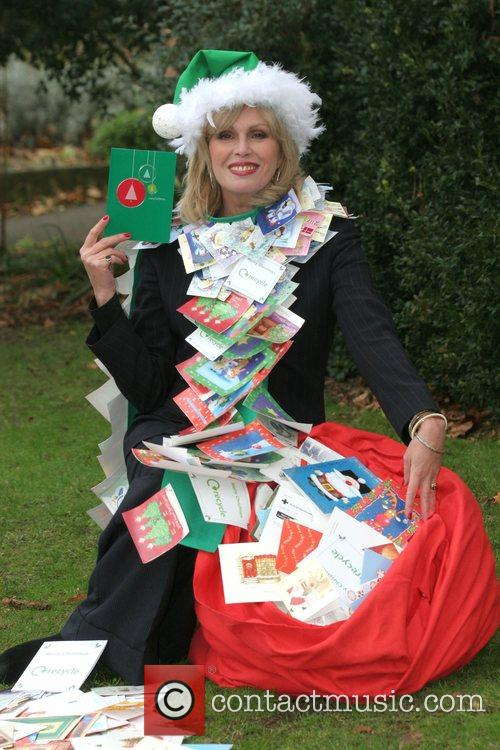 Joanna Lumley launches the Woodland Trust Christmas recycling...