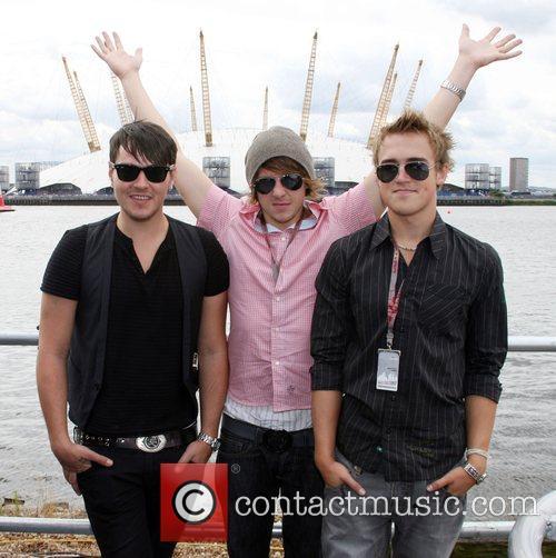 Matt Willis with Danny Jones and Tom Fletcher...