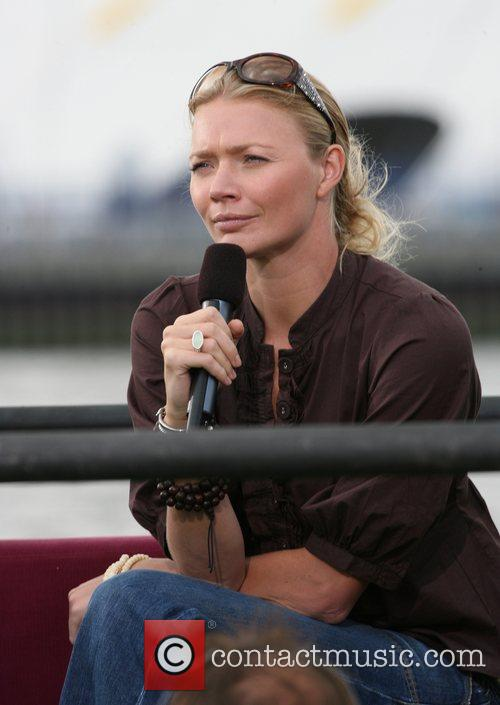 Jodie Kidd providing commentary for the annual Red...