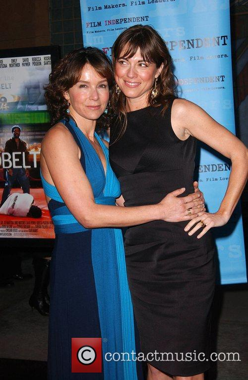Jennifer Grey and Rebecca Pidgeon Premiere of Redbelt...