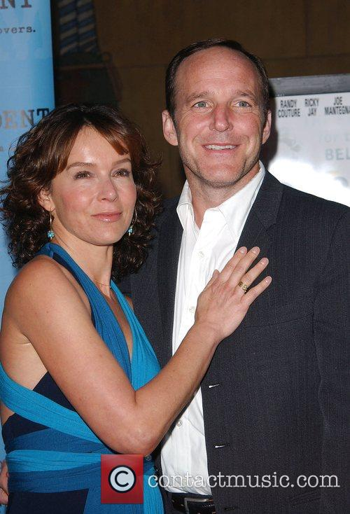 Jennifer Grey and husband Premiere of Redbelt shown...