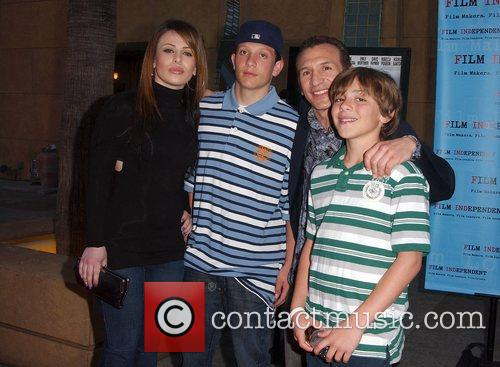 Ray Mancini and family Premiere of Redbelt shown...