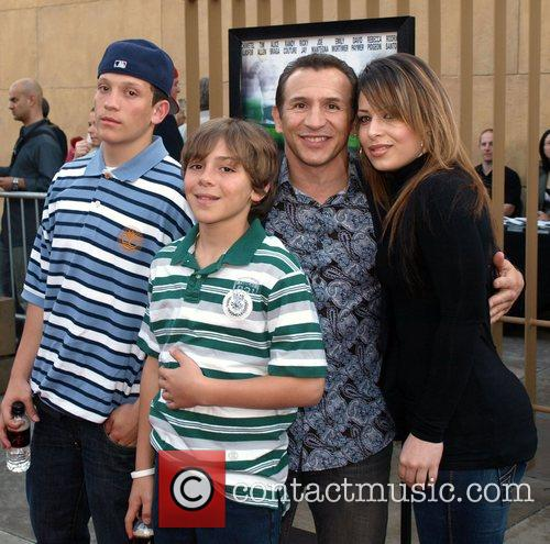 Ray Mancini and family Los Angeles Special Screening...