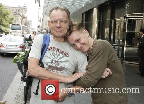 Jamie Parker and David Schofield outside the Hotel...