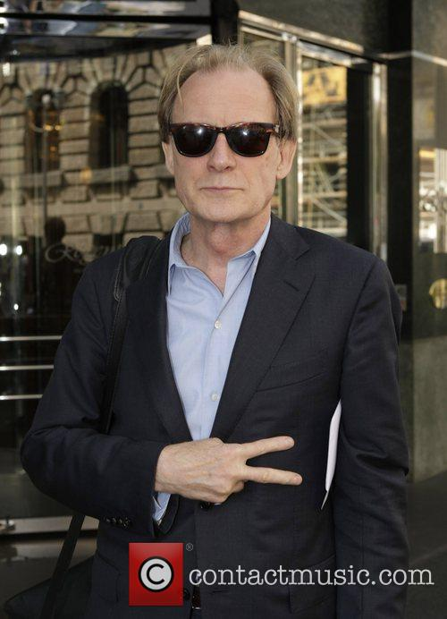 Bill Nighy outside the Hotel Regent at the...