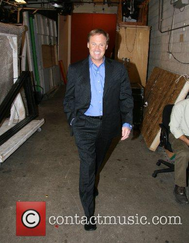 Rusty Wallace leaving ABC Studios after appearing on...