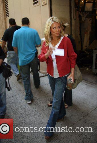 Kelly Ripa leaving ABC Studios after appearing on...