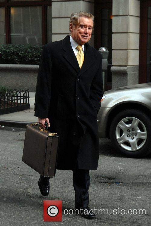 Regis Philbin walking in the Upper West Side...