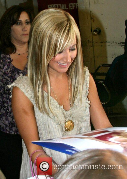 Ashley Tisdale Leaving ABC Studio's after appearing on...