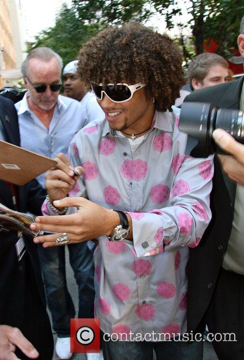 Corbin Bleu Leaving ABC Studio's after appearing on...