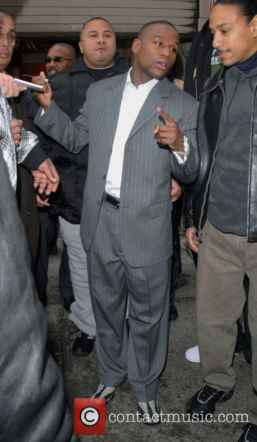 floyd mayweather outside abc's studio after appearing on 'live with regis 5067495