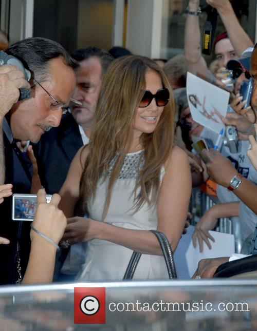 Jennifer Lopez Celebrities outside ABC Studios after appearing...