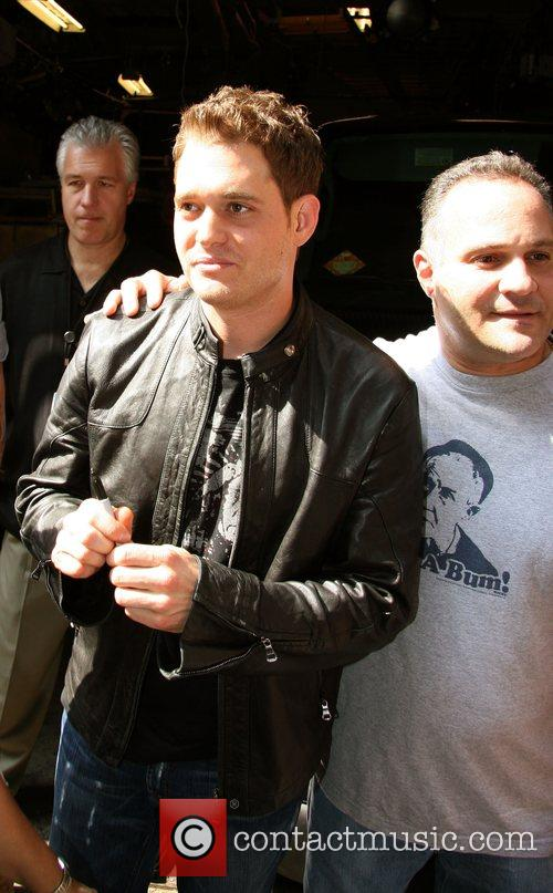 Michael Buble outside ABC Studios for 'Live with...