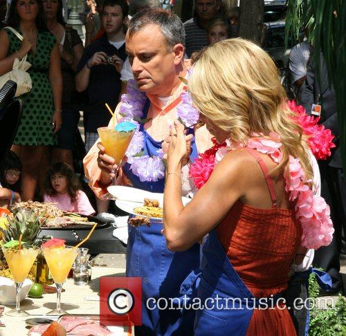 Regis Philbin and Kelly Ripa with Chef George...