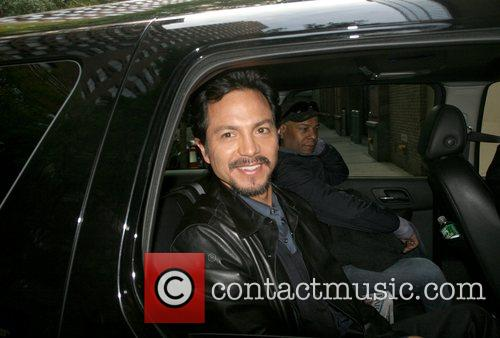 Leaving ABC Studios after an appearance on 'Live...