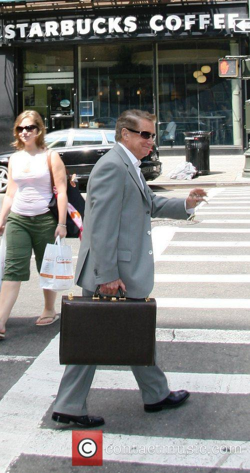 Regis Philbin leaving the ABC studios after appearing...